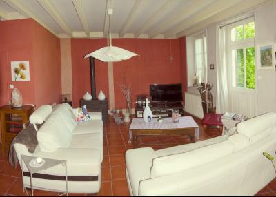 Vue: Salon/séjour vue 1, 3 km St Loup G - Belle demeure du XIXe siècle - 220 m² de surface habitable - 10 pièces - 6 chambres