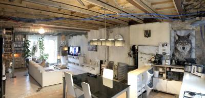 BRAGNY-SUR-SAONE -maison de village de caractère-environ 90 m² habitables-1 chambre-terrain : 535 m²