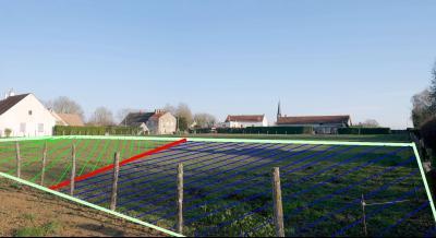 SERMESSE - Terrain plat entièrement viabilisé de 1000 m² ou 2000 m² suivant préférence - à 43 ?/m²