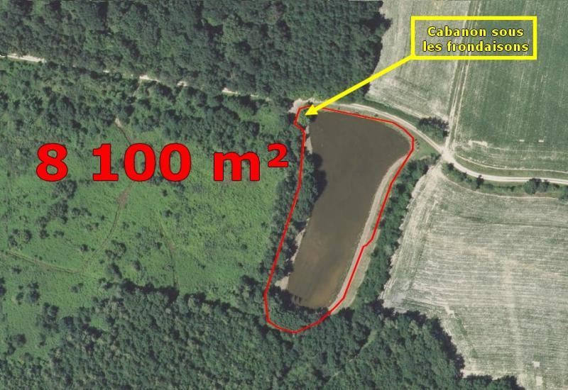 Secteur de BAUDRIERES - Etang de 7500 m² sur un terrain de loisir de 8100 m² avec cabanon