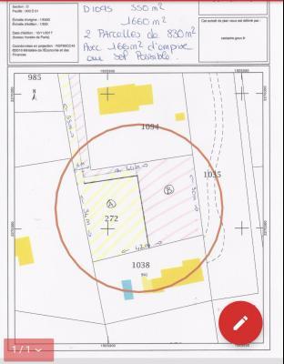 Terrain 830m² constructible 83560 ARTIGUES