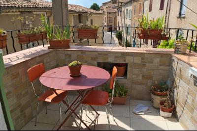 Montagnac - Maison de Village - Terrasse - centre village