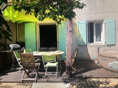 Vue: facade cot� jardin, MAISON avec Jardinet à 8 mn à pied du centre de VAISON-LA-ROMAINE