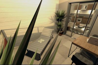 T2 41 m² - RESIDENCE LES TAMARINS- 2 pièces, Agence Immobilière DEFINA PATRIMOINE