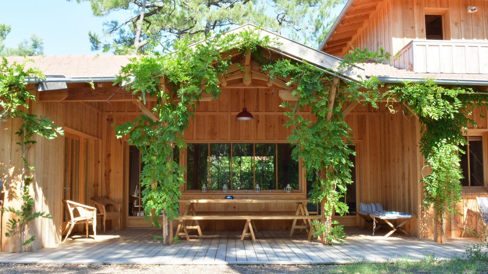 Cap ferret entre bassin et oc an maison en bois esprit cabane - Maison bois cap ferret ...