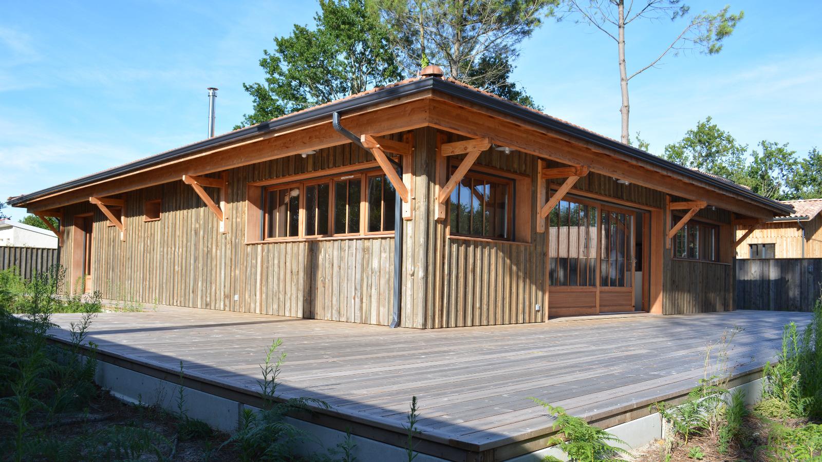 L ge cap ferret maison en bois proche commerces immo - Maison en bois cap ferret ...