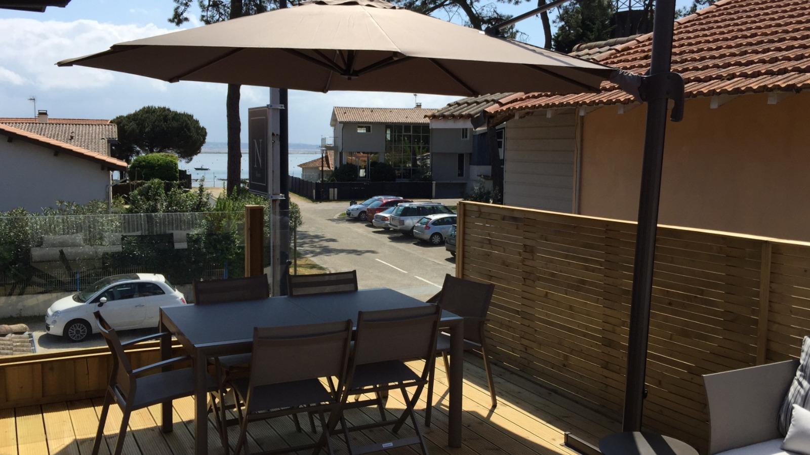 Presqu 39 le du cap ferret appartement avec une terrasse vue sur le bassin immo prestige - Bassin balcon terrasse le mans ...