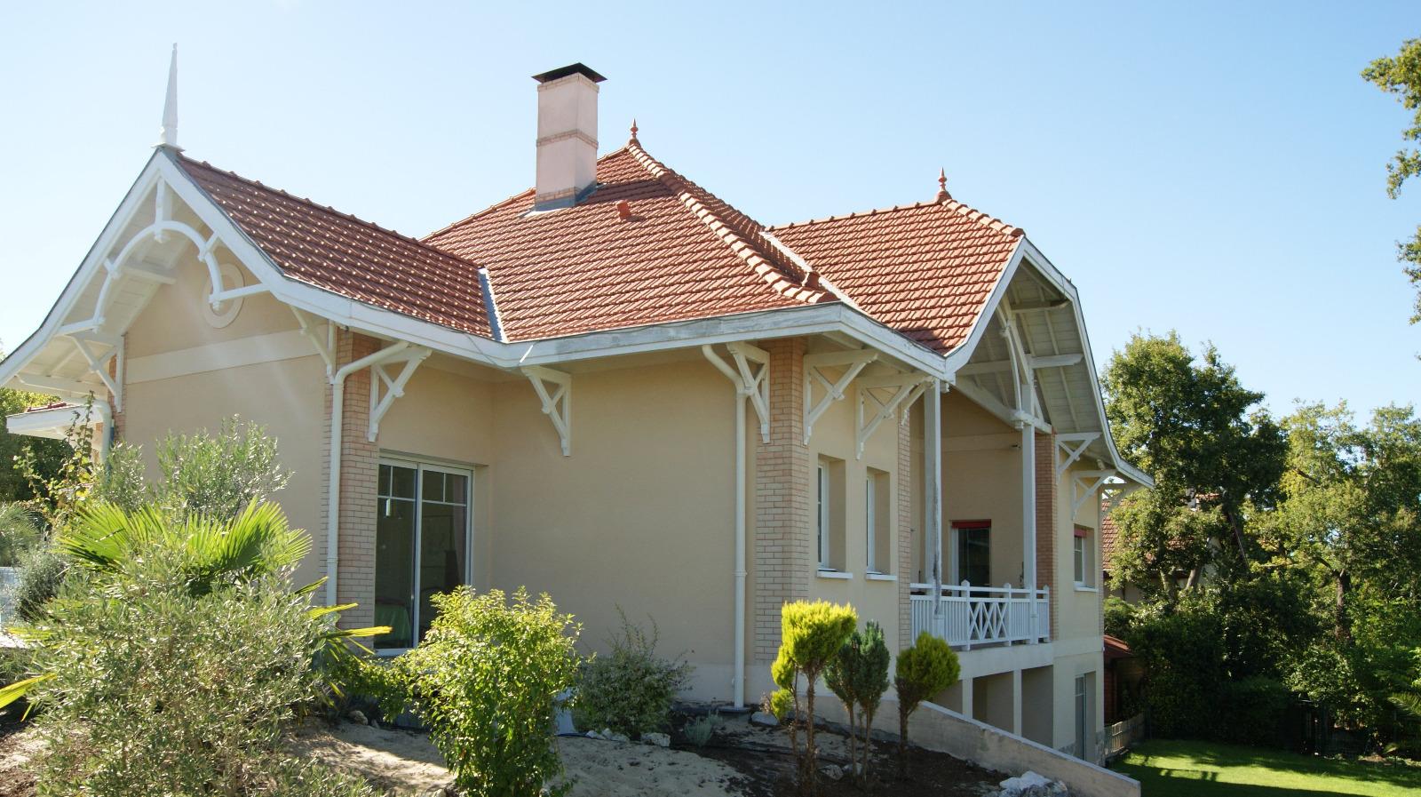 Arcachon ville d 39 hiver villa de prestige avec vue bassin for Achat maison arcachon