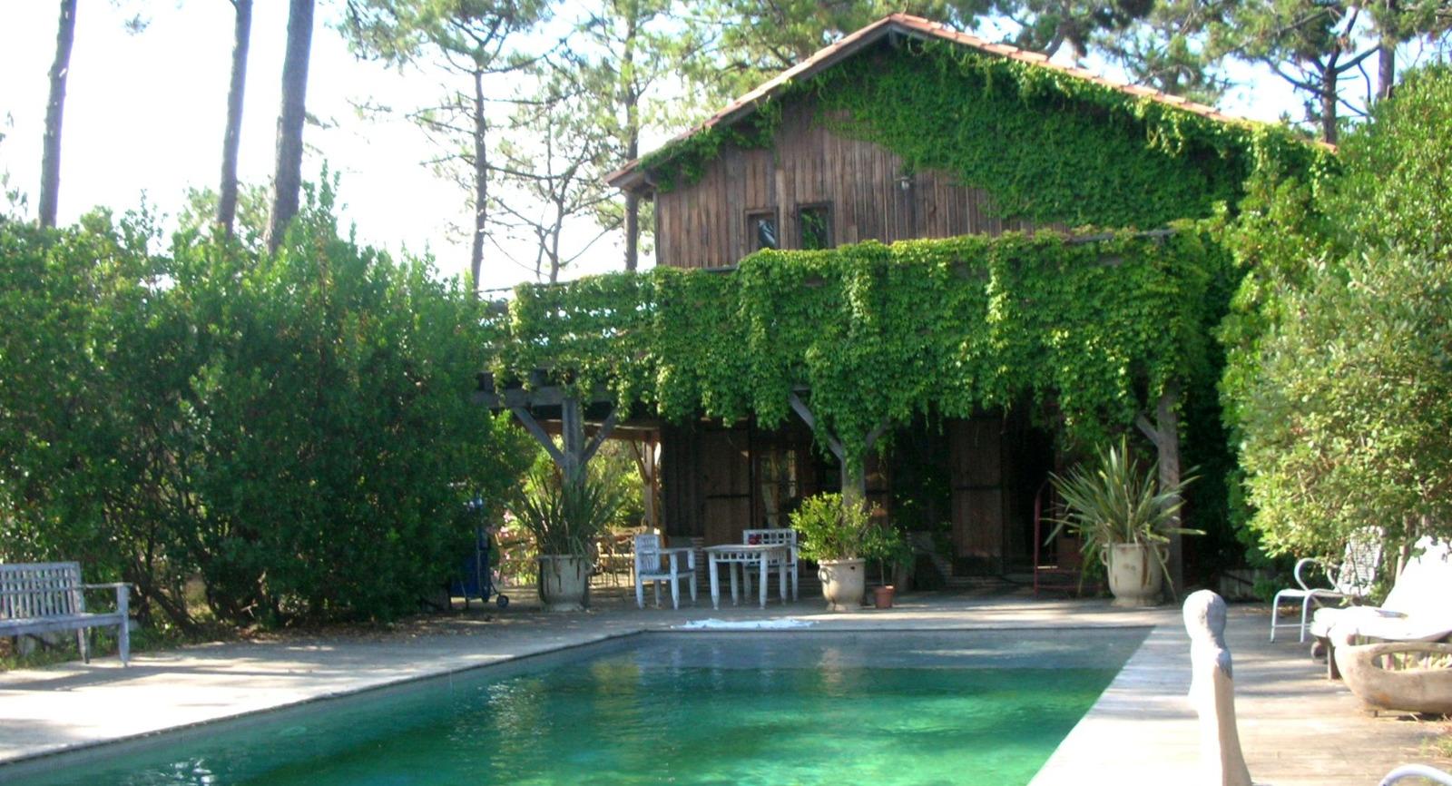 presqu 39 le du cap ferret le canon maison en bois en bordure de pin de entre bassin et oc an. Black Bedroom Furniture Sets. Home Design Ideas