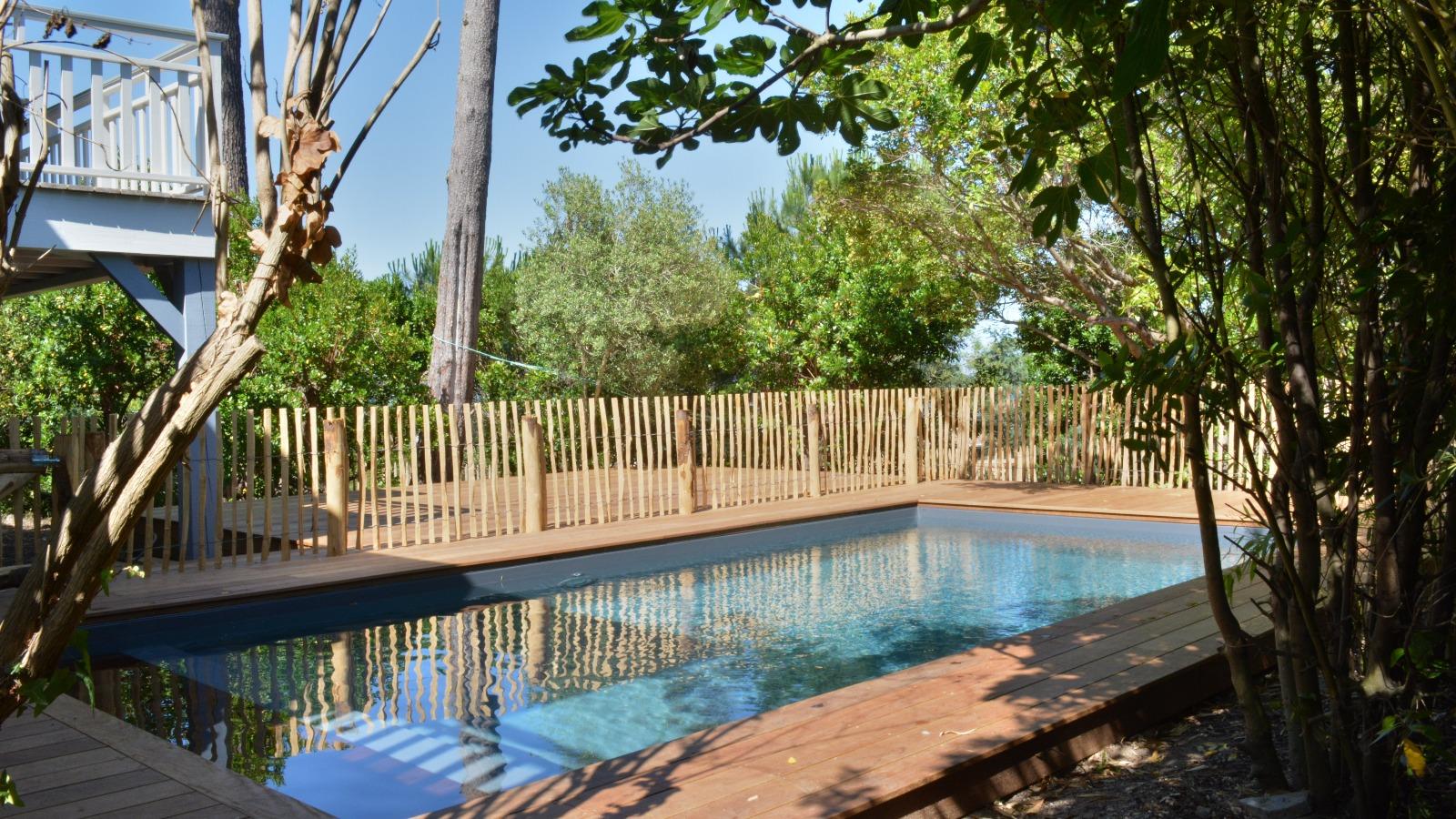 Cap ferret port de la vigne maison en bois vue bassin for Belles maisons du bassin
