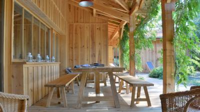cap ferret maison en bois esprit cabane proche plage. Black Bedroom Furniture Sets. Home Design Ideas