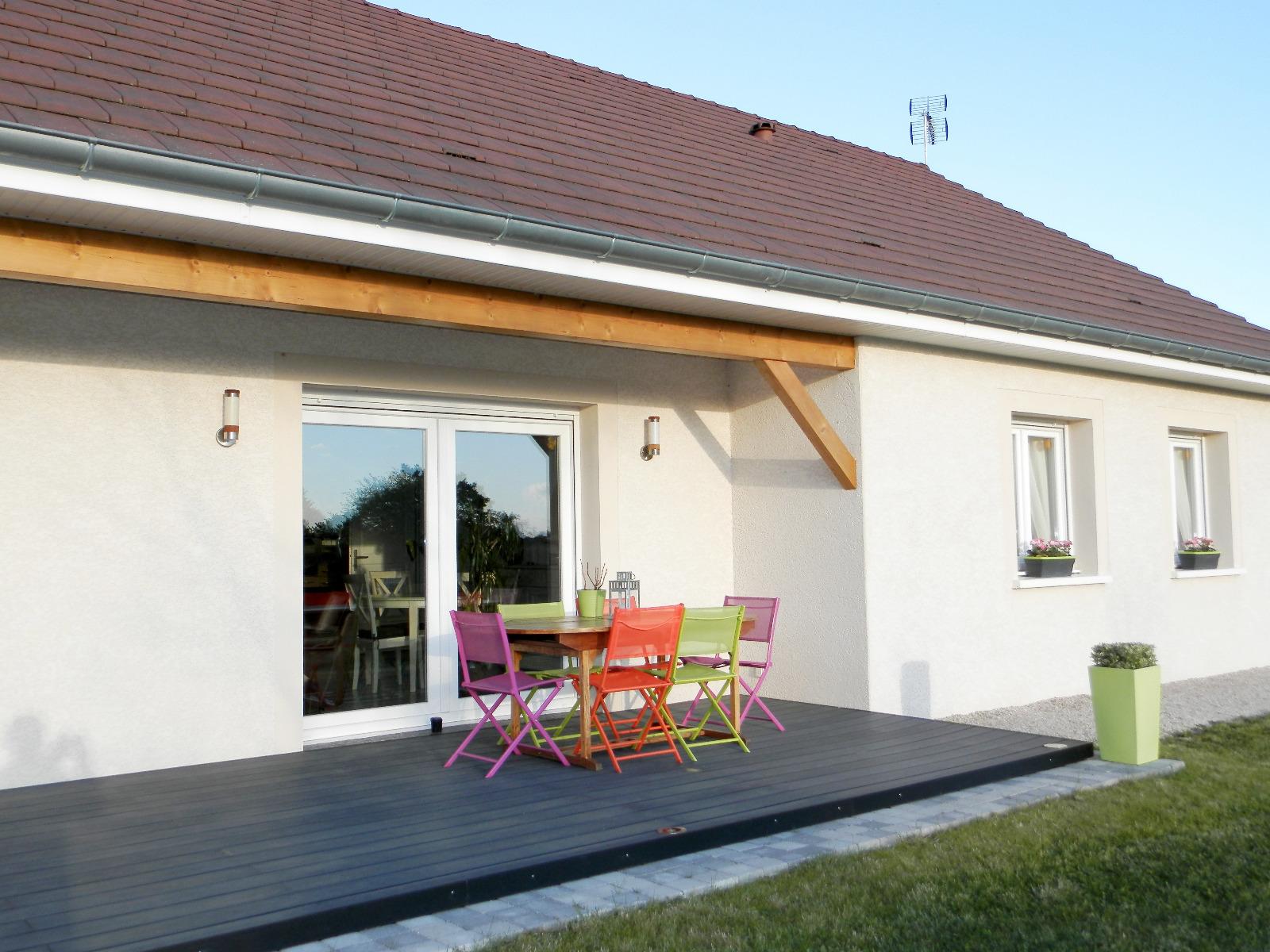Vente bletterans 39 maison contemporaine de plain pied for Vente maison moderne