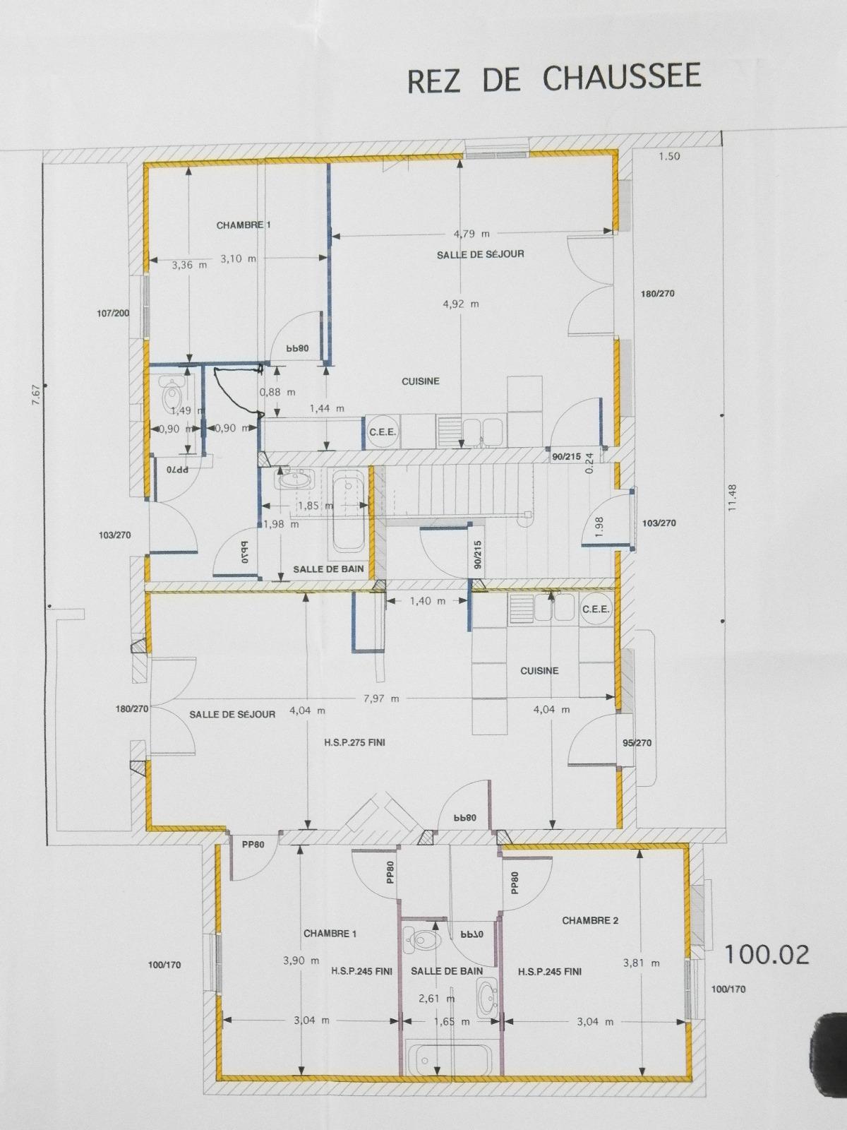 Vente louhans 71 special investisseurs immeuble 4 logements loues 2 garages