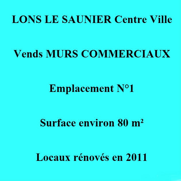 vente lons le saunier centre 39 murs commerciaux environ 80 m emplacement n 1 3d immobilier. Black Bedroom Furniture Sets. Home Design Ideas