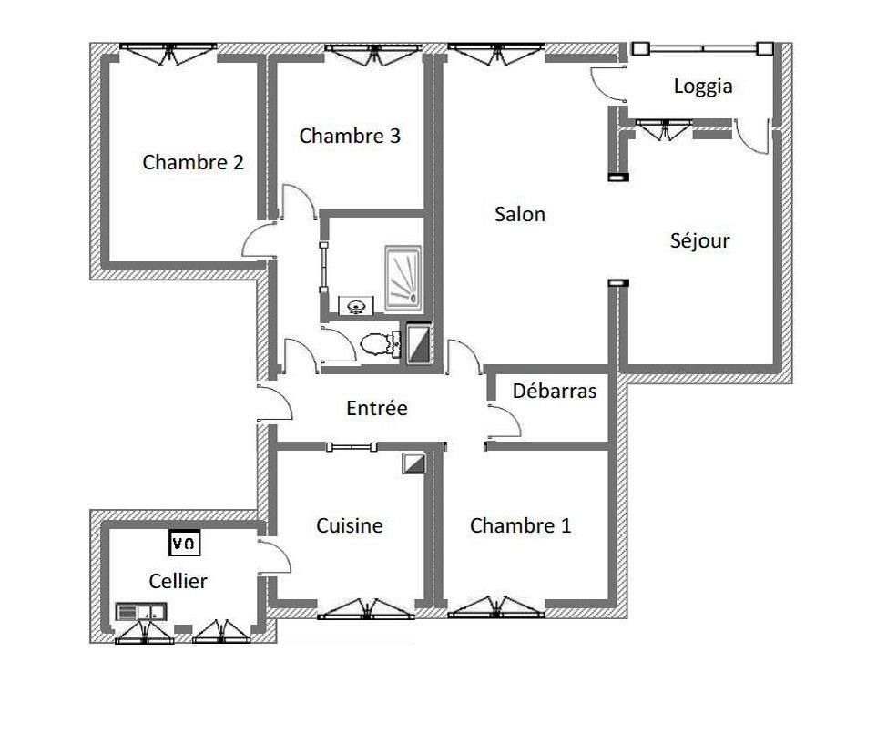 Lons le saunier 39 jura vendre appartement t5 de 95 for Garage bmw lons le saunier