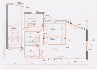 Vente LONS LE SAUNIER (39), maison plain-pied 2016 de 113 m², sur terrain 536 m², PLAN MAISON A VENDRE