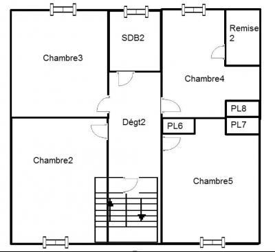 Poligny (39 JURA), à vendre belle demeure du 15° siècle à rafraichir et personnaliser., Plan Etage