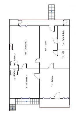 Secteur Lons-le-Saunier (39 JURA), à vendre maison en pierre sur sous-sol, 2 chambres avec jardin., Vue depuis CH2