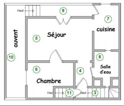 Bletterans centre, à vendre maison de ville avec garage, 1 chambre., Etage 1