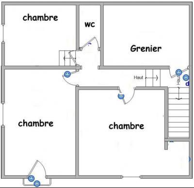 Bletterans centre-ville, à louer appartement, 3 chambres, au calme., Plan Etage