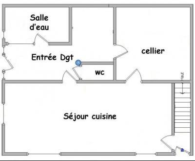 Bletterans centre-ville, à louer appartement, 3 chambres, au calme., Plan RDC