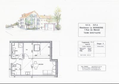 Vends 74140 Douvaine, centre ville, appartements Type T2.,