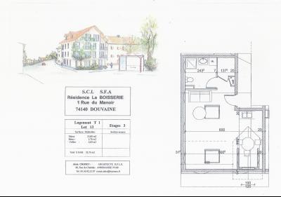 Vends 74140 Douvaine, centre ville, appartements Type T1.,