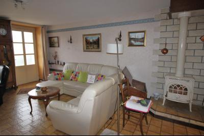 VENTE LONS-LE-SAUNIER (39)JURA, MAISON DE VILLAGE sur sous-sol, 2 chambres, 100 m² de jardin et cour, Salon
