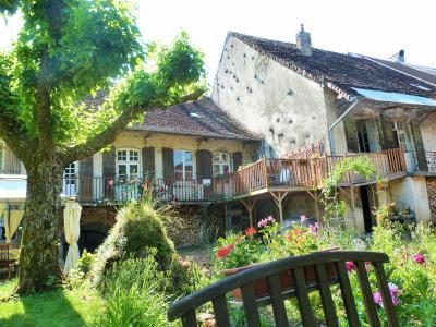 LONS-le-SAUNIER 39 JURA à 20km- Vends demeure de caractère dans beau village viticole sur 4750m²env., La demeure côté parc
