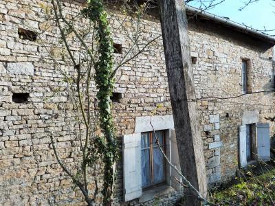 ORGELET JURA 39 11km Vends Ancienne FERME en pierres -à rénover-(vastes dépendances,jardin, verger), Façade Ouest