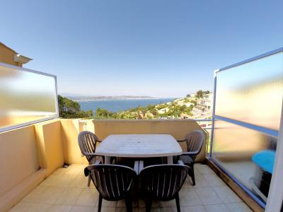 Théoule sur Mer (06 Alpes Maritimes), à vendre dernier étage avec vue mer panoramique, 2 terrasses, terrasse vue mer