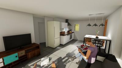 Appartement neuf T 3 avec terrasse - VINON