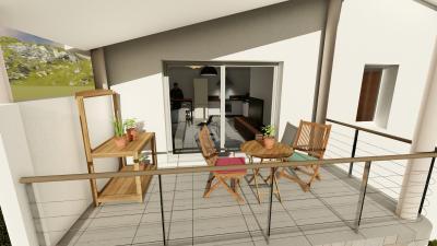 T3 neuf + terrasse + 2 place parking -  VINON