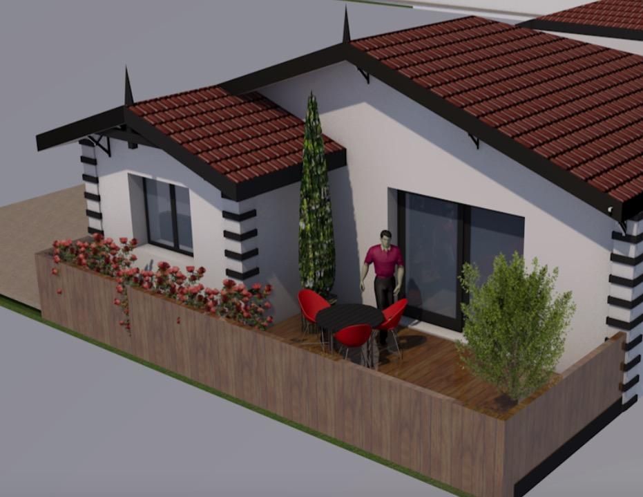 vente villa la teste de buch 33260 62m avec 3 pi ce s dont 2 chambre s sur 135m de. Black Bedroom Furniture Sets. Home Design Ideas