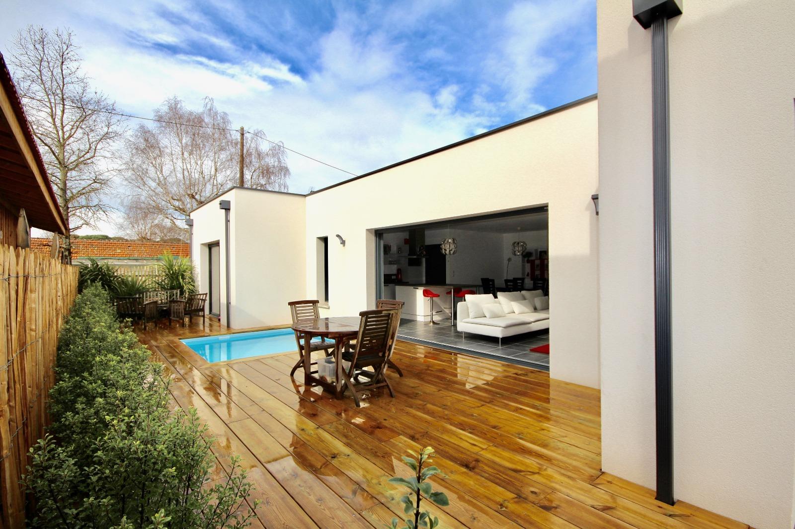 vente villa la teste de buch 33260 99m avec 4 pi ce s dont 3 chambre s sur 291m de. Black Bedroom Furniture Sets. Home Design Ideas