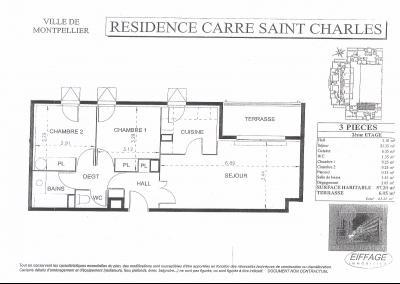 MONTPELLIER  PROCHE DE LA FAC DE DROIT T3 RESIDENCE ST CHARLES AVEC GARAGE