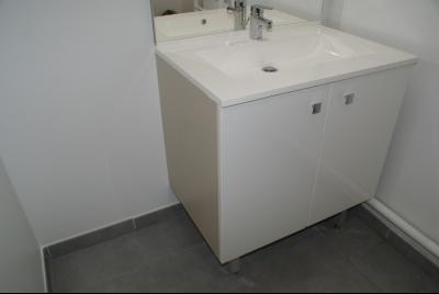 Vue: Salle de bains, A LOUER MONTPELLIER Coeur Clemenceau 3 pièces neuf avec loggias et parking