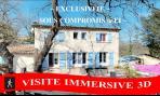 Vente EN EXCLUSIVITE ! BASTIDE RECENTE T7 128 M² TOURVES 83 VAR. VISITE IMMERSIVE 3D SUR AEI-VAR.COM.