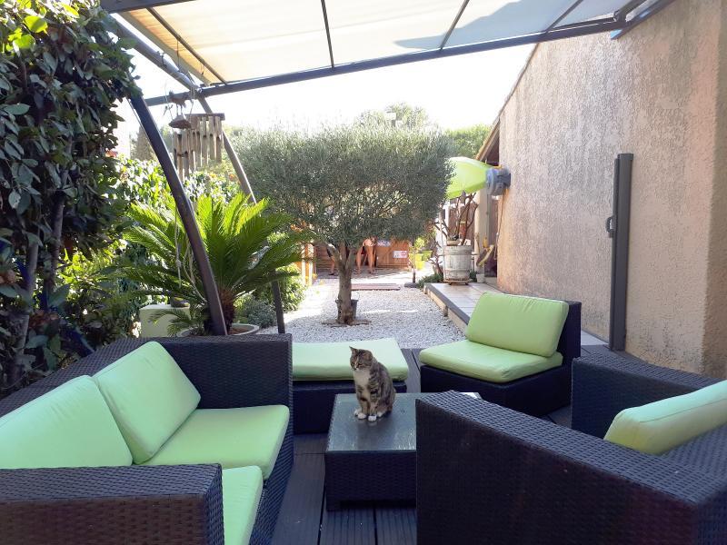 Vente Six Fours, villa T5 de 96m² sur 226m² de terrain, terrasses, véranda, , Var 83.