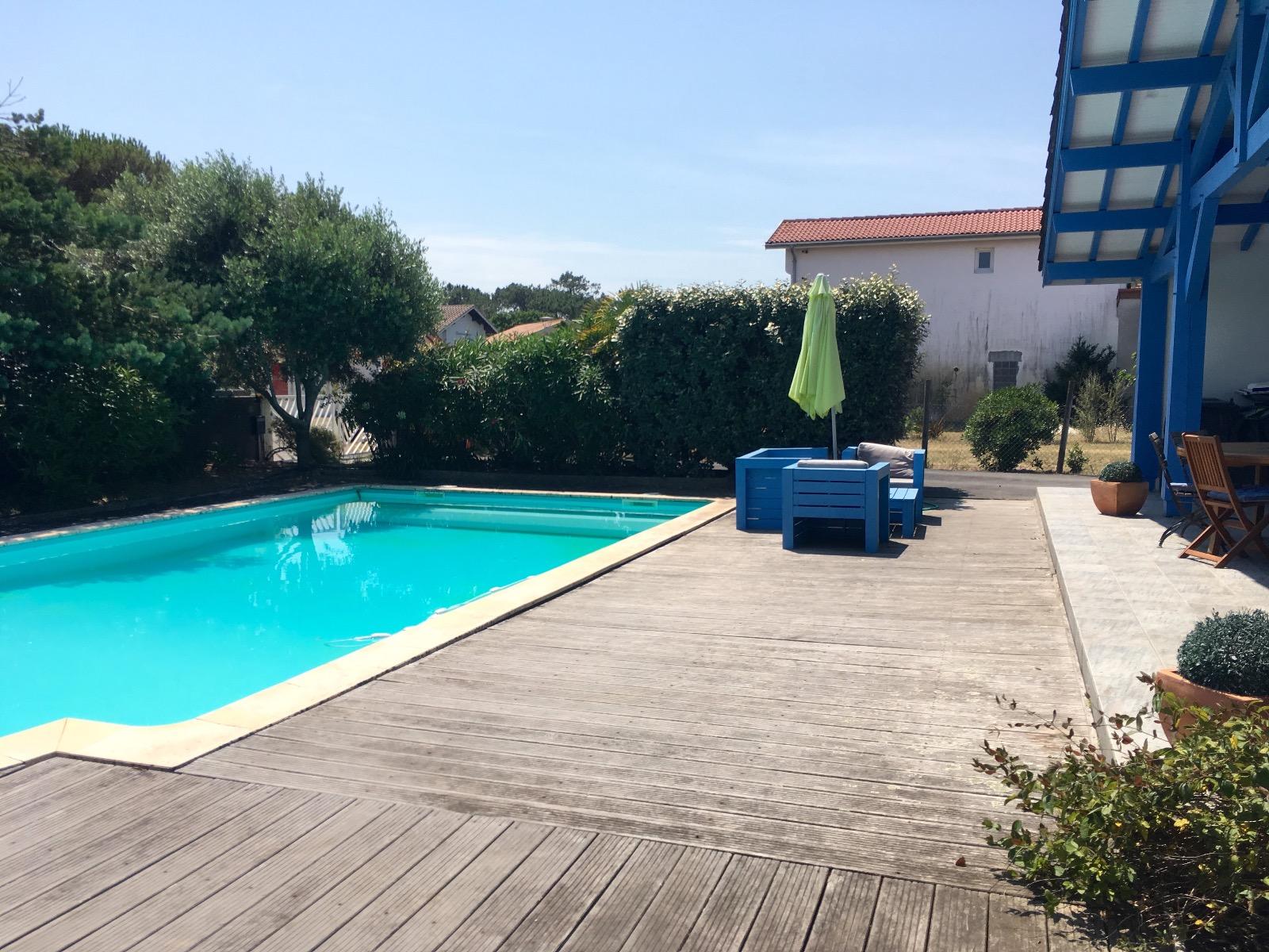Mimizan plage villa f6 piscine id alement situ e 100m for Achat maison mimizan