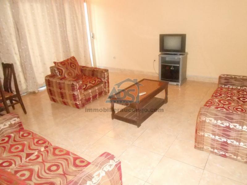 Appartement meublé de 2 chambres et 2 salles de bain à louer à la Gombe