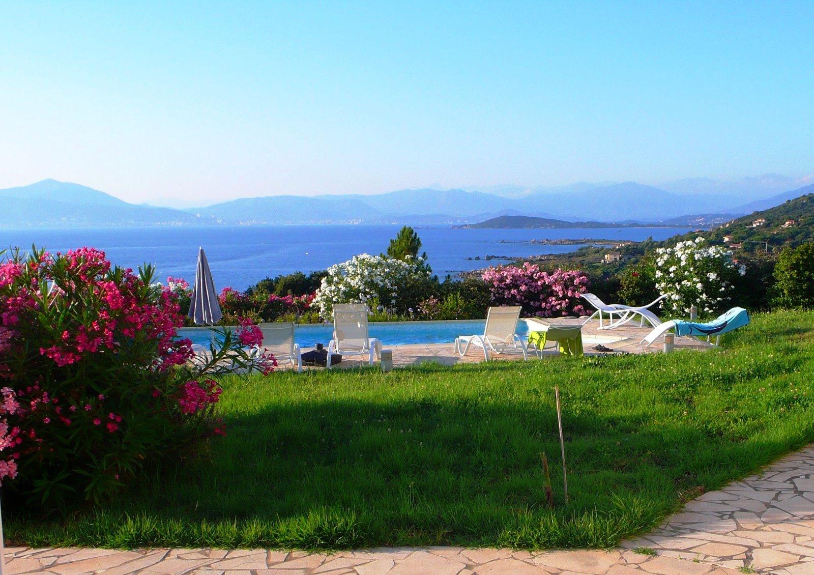Corse du sud villa 200m dominant la magnifique plage de portigliolo pierre et patrimoine corse - Villa corse du sud ...