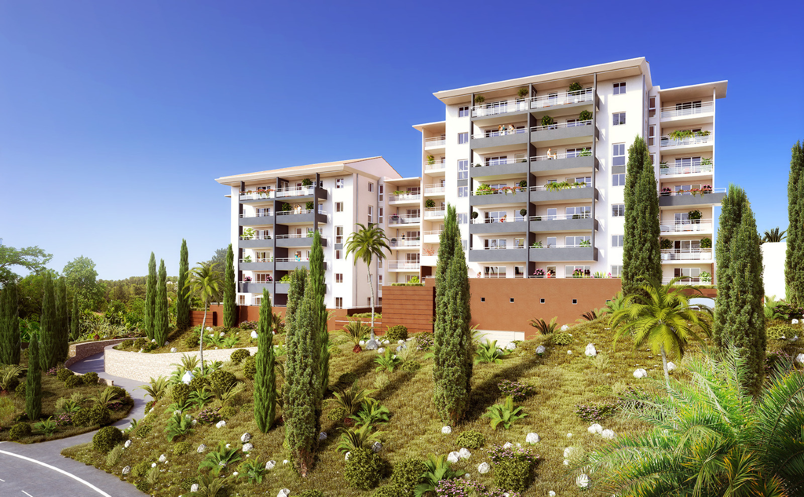 Residence le musset t2 h1 42 44 60m2 a sarrola for Residence immobilier
