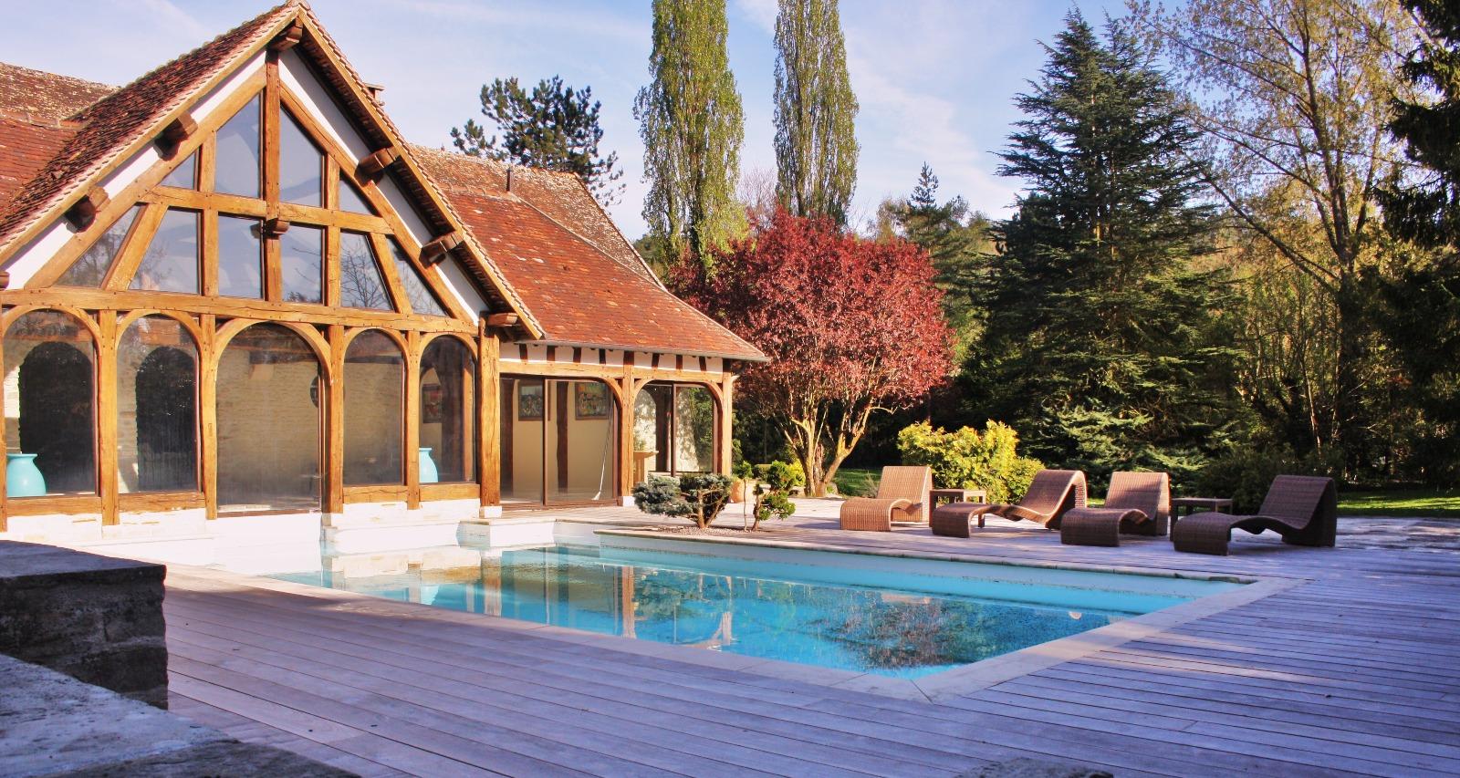 Maison ancienne avec piscine int rieur et ext rieur 4 chambres - Interieur maison ancienne ...
