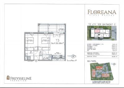 VIEUX BOUCAU LES BAINS - Appartement 50,08m² - 3 pièces