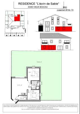 Programme Neuf ! VIEUX BOUCAU Centre - T3 48.75 m²