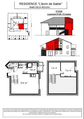 Programme Neuf ! VIEUX BOUCAU Centre - T2 duplex + mezzanine 44,10 m²