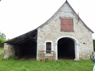 Vue: Proche NAY - Vente Grange Vue Pyrénées, Proche NAY - Vente en exclusivité Grange en galets apparents avec vue Pyrénées