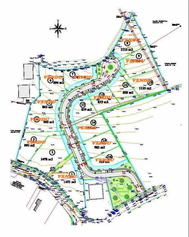 SECTEUR SAUVAGNON, à vendre terrain viabilisé dans lotissement calme, Agence immobilière Libre-Immo dans la région Pyrénées-Atlantiques à Nay et Pau