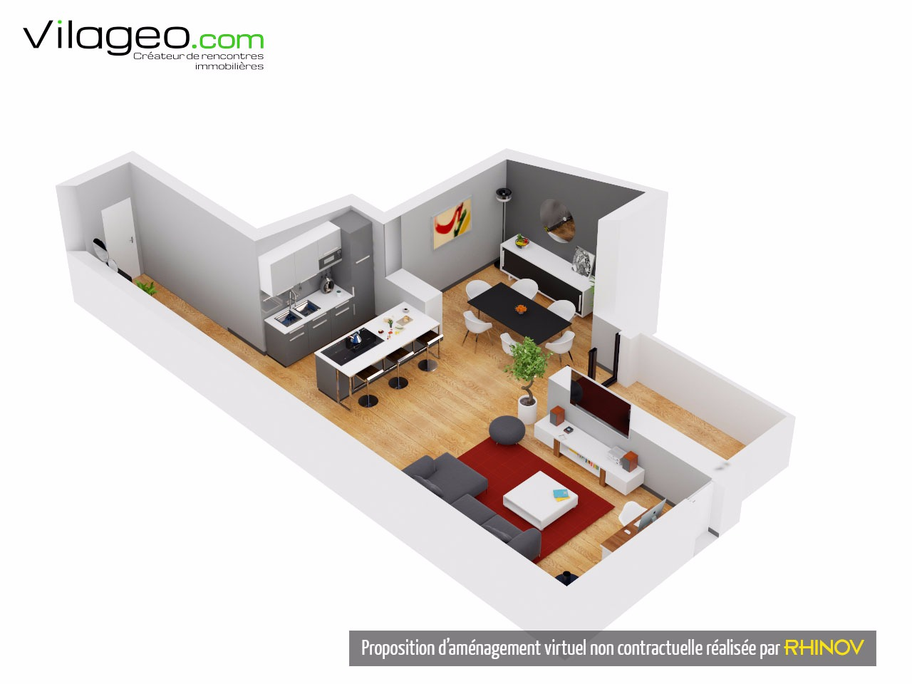 Appartement type loft 90m vilageo for Appartement type loft